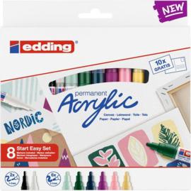 edding- Acrylic Marker starter set Nordic 8 ST 1-2/2-3mm / 4-SES8N