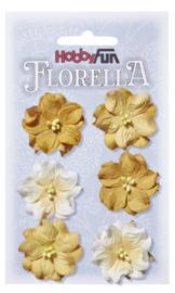 3866024-FLORELLA-Blüten gelb, 3,5cm