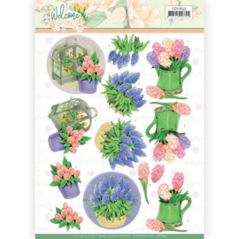 CD11633 - 3D cutting sheet - Jeanine's Art Welcome Spring - Hyacinth