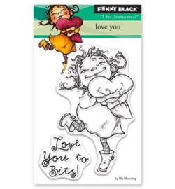 30-459-Penny Black-clear stempel-Love You