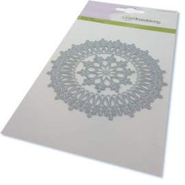 115633/0531-CraftEmotions Die - border rond magic ice crystal Card 10,5x14,8cm