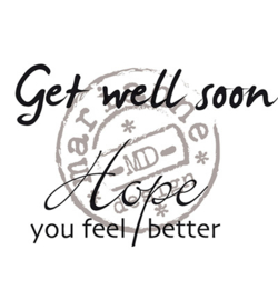 CS0895 - Get well soon-MarianneDesign clear stempel