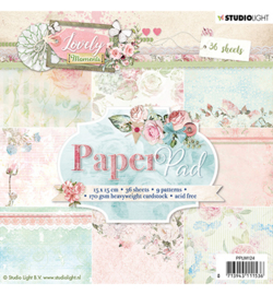 PPLM124-Paper Pad- Lovely Moments nr.124-15x15cm-36 vel