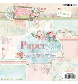 PPLM124-Paper Pad- Lovely Moments nr.124-15x15cm-36 Blätter