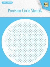 MMPCS005 -Nellie's Choice Precision stencils Rond stencil vierkanten-135x135mm