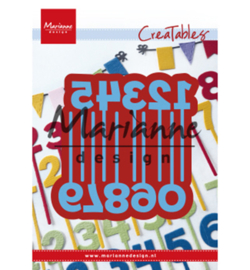 LR0582-Marianne Design-Creatables Pins Numbers-79 x 79,5 mm