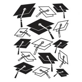 1218-48-Darice Embossingfolder 10,7x14,6cm-Graduation cap