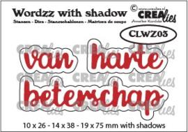 CLWZ03-Wordzz stansen with shadow no. 03, van harte beterschap