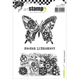 SA60134-Carabelle Studio • cling stamp A6 papillon steampunk