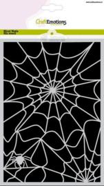 185070/1282-CraftEmotions Mask stencil Halloween spinnenweb A5 Carla Creaties