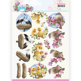 CD11654-3D Cutting Sheet - Amy Design - Enjoy Spring - Birds