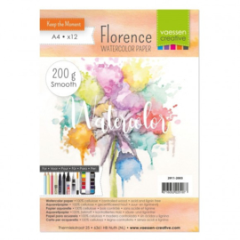 2911-2003-Florence-Aquarelpapier smooth-200g-A4 12pcs
