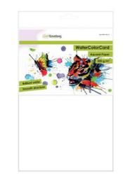 001286/3321-CraftEmotions- WaterColorCard - briljant wit- 10 vl A4 - 200 gr