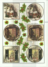 BOJE 100-NJ0026-KN Kersthuisjes knipvel