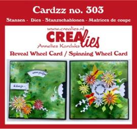 CLCZ303-Cardzz stansen no. 303, 2x Draaikaart