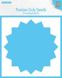 MMPCS003 -Nellie's Choice Precision stencils 16-Punkt Kreis -190x190mm