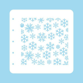 COLST004-Nellie's Choice Schablone Christmas Time - Snowflakes
