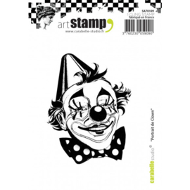 SA70109-Carabelle stamp A7 portrait de clown