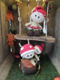 69040/031-Haakpakket Funny Mushroom set