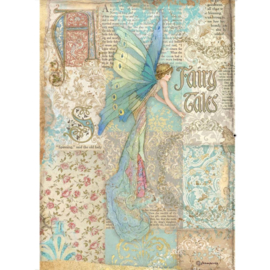 DFSA4577 - Stamperia Rice Paper A4 Sleeping Beauty Fairy Tales