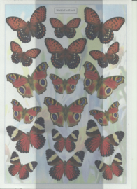 BOWOC 100-0004-KN rode vlinders metalic knipvellen