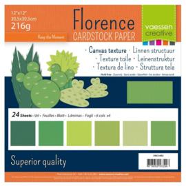 "2923-002-Florence cardstock 216gr 12x12"" x 24 Multipack Grün"