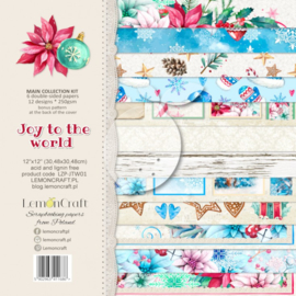 LZP-JTW01-Set of scrap papers 30x30cm - Lemoncraft - Joy to the world