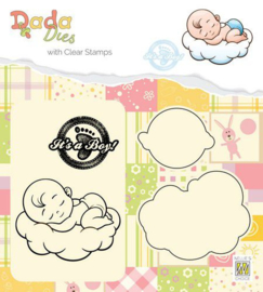 DDCS010-DADA Die with clear stamp-It's a boy Sweet Dreams