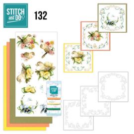 STDO132 - Stitch and Do 132 Delicate Flowers - Birds