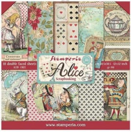 SBBL52-Stamperia Alice 12x12 Inch Paper Pack