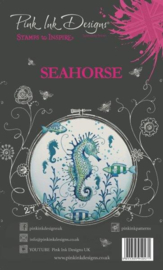 PI009-Creative Expressions • Pink ink A6 clear stamp seahorse