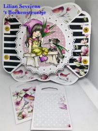 "C-Paper pad Hello Beautiful- 6""x6"""