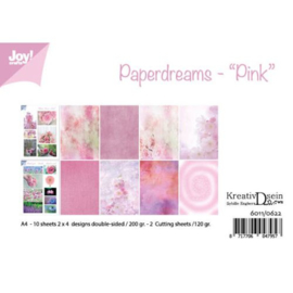 6011/0622-papierset A4-Paperdreams Pink