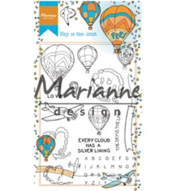 HT1634 - Clear Stamps Hetty's border: Sky is the limit-Marianne Design