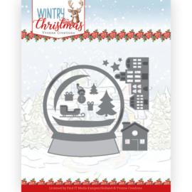 YCD10247-Wintery Christmas - Snowman in snow globe