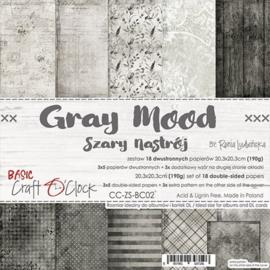 CC-ZS-BC02-Craft O'Clock- Gray Mood-20,3x20,3cm