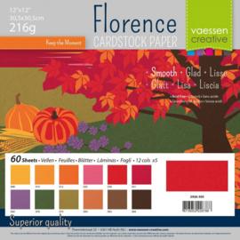2926-303-Florence -  Cardstock smooth- 30,5x30,5cm- 60 Blätter- Autumn