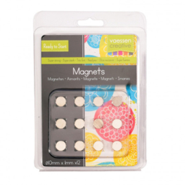1617-124-Vaessen Creative  - Magneet Ni35 superstrong - Ø10x1mm - 12pcs