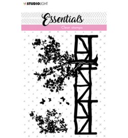 SL-ES-STAMP25 - SL Clear Stamp Fence/trees Essentials nr.25