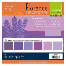 2923-003-Florence • Cardstock multipack 30,5x30,5cm Paars