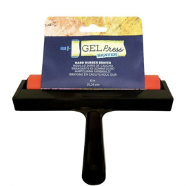 10826-6-Gel Press - Hard rubber brayer -15,24cm
