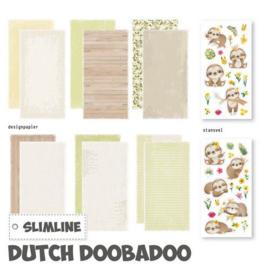Dutch Doobadoo Slimline paper Kit Luiaard 473.005.006 21x10,5 cm