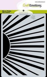 CraftEmotions Mask stencil Bugs & flowers - zonnestralen A6 Carla Creaties