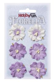 3866 053-Hobbyfun Florella Bloemen- ca. 3,5 cm- Lavendel
