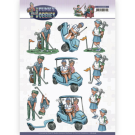 CD11608-    3D cutting sheet - Yvonne Creations - Funky Hobbies - Golf