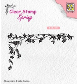 SPCS007-Floral corner-1-Nellie's Choice clear stamp