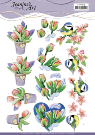 CD11619-    3D Cutting Sheet - Jeanine's Art - Tulips and Blossom