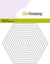 115633/0813 - Craft Emotions Hexagon stansmal