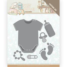 YCD10233 - Dies - Yvonne Creations - Newborn - Baby Bodyvest