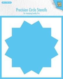 MMPCS002 -Nellie's Choice Precision stencils 12-punts cirkel-190x190mm